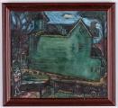 "<h5>""Strange House"" by Rosabelle Morse (N/D)</h5><p>Approx. 17""x19""; Oil on canvas BMAS 1029</p>"