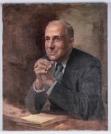 """<h5>""""Portrait"""" by Paul C. Burns (1974)</h5><p>Approx. 26""""x30""""; Oil on canvas BMAS 1096</p>"""