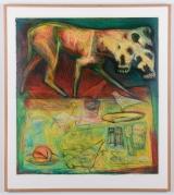 "<h5>""Memories (Carpentras)"" by Howard Berelson (1991)</h5><p>Approx. 50""x53""; Monoprint BMAS 1179</p>"