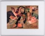 "<h5>""Variations"" by Barbara W. Frazier</h5><p>Approx. 16""x20""; Monoprint BMAS N/N</p>"